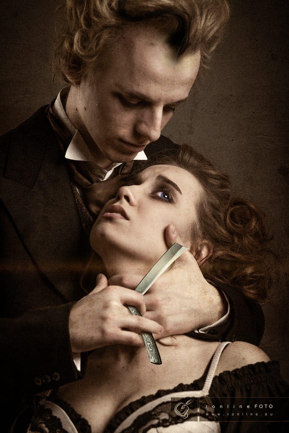 Der Fotograf in Aachen portraitiert auch Sweeney Todd und Mrs. Lovett